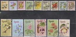 UGANDA Scott # 115-29 Used - Flowers - Oeganda (1962-...)