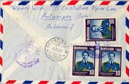 1959 , GUATEMALA , SOBRE CERTIFICADO ENTRE PUERTO BARRIOS Y SCHAFISHEIM , LLEGADA - Guatemala