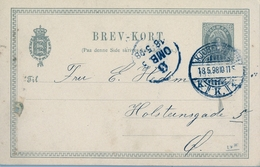 1898 , DINAMARCA , ENTERO POSTAL CIRCULADO  , COPENHAGUE - HOLSTENSGADE - Postal Stationery