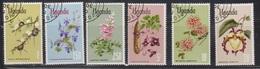 UGANDA Scott # 124-9 Used - Flowers - Uganda (1962-...)