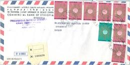 1961 , ETIOPIA , CERTIFICADO A ESTOCOLMO , COMMERCIAL BANK OF ETHIOPIA , ADDIS ABEBA , CORREO AÉREO - Etiopía