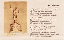 Ad Sodales-Scultura In Bronzo-Integra E Originale Al 100% An1 - Belle-Arti