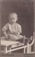 ANTIQUE CDV PHOTO. YOUNG CHILD.  DRESDEN STUDIO - Photographs
