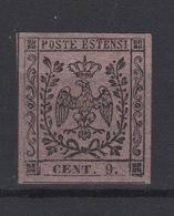 Italia 1855 Italy Modena 9c Mint RARE - RARO - Modena