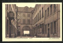 AK Düsseldorf, Niederrheinische Backsteinhäuser, Zolltor - Duesseldorf