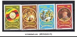 ZIMBABWE - 1982 - 75TH ANNIVERSARY OF SCOUTING - 4V MINT NH - Zimbabwe (1980-...)