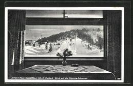 AK Garmisch, Olympia-Haus-Gaststätten Mit Blick Auf Die Olympia-Schanzen - Deutschland