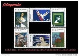 CUBA MINT. 2013-18 70 ANIVERSARIO DEL DEBUT ESCÉNICO DE ALICIA ALONSO EN EL BALLET GISELLE - Cuba