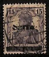 [811882]Sarre 1920 - N° 7-cur, 15p Violet, Surcharge Faible, Incomplète, Curiosité - Sarre