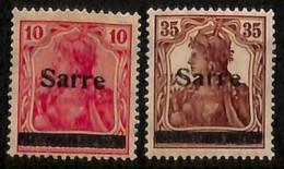 [811888]Sarre 1920 - N° 6+11, 10p Et 35p Surchargés - Sarre