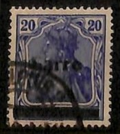 [811890]Sarre 1920 - N° 8, 20p Bleu, Grosse Barre Et 'Sarre' Incomplet, Curiosité - Sarre