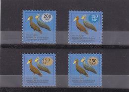 Stamps SOUTH SUDAN 2017 BIRDS OVERPRINT SURCHARGE SET OF 4 MNH */* - Sud-Soudan