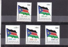 Stamps SOUTH SUDAN 2017 NATIONAL FLAG OVERPRINT SURCHARGE MNH */* - Zuid-Soedan
