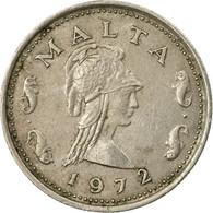 Monnaie, Malte, 2 Cents, 1972, British Royal Mint, TB, Copper-nickel, KM:9 - Malta