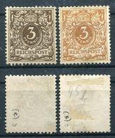 D. Reich Michel-Nr. 45b Und 45c Ungebraucht - Geprüft - Deutschland