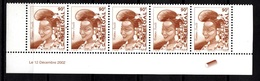 Senegal, 12.12.2002- Femme Peulh- Stripe Of Five Stamps By 90F. Mint NH - Senegal (1960-...)