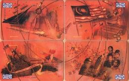 Malaysia - GPT, Uniphonekad, 27MSAA/B/C/D, Independence - Merdeka (puzzle 4 Cards), 1992, Mint - Malaysia