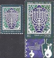 ISRAEL - USA.2018.Joint Issues.Hanukkah. 2 V. ** - Joodse Geloof