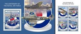 Sierra Leone 2018, 100th Royal Air Force, 4val In BF +BF - Sierra Leone (1961-...)