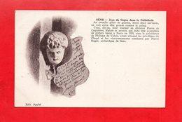 89 - Sens : Jean Du Cogno Dans La Cathédrale, Aristide Bruant 1904, Cpa - Sens