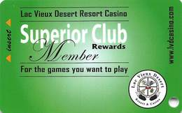 Lac Vieux Desert Casino Watersmeet MI Slot Card - 9 Lines Of Text In Reverse Paragraph, Last Line Starts 'will Expire' - Casino Cards