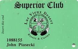 Lac Vieux Desert Casino Watersmeet MI Slot Card - Bottom 2 Lines Reverse Centered - Casino Cards