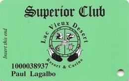 Lac Vieux Desert Casino Watersmeet MI Slot Card - Bottom 2 Lines Toward Left - Casino Cards