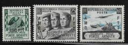 Trieste Zone A, Scott # 157-9 MNH Italy # 613-5 Overprinted, 1952 - 7. Trieste