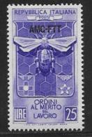 Trieste Zone A, Scott # 167 MNH Italy # 623 Overprinted, 1953 - 7. Trieste