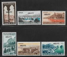 Trieste Zone A, Scott # 188-93 MNH Italy # 641-6 Overprinted, 1954 - 7. Trieste