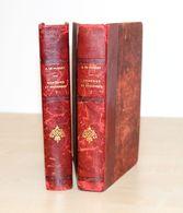11- ANCIEN LIVRES COMEDIES ET PROVERBES - DE MUSSET TOME 1 & 2 - 1860 FLAMMARION - 1801-1900