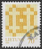 Lithuania SG656 1998 Definitive 70c Good/fine Used [3/2615/6D] - Lithuania
