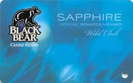 Black Bear Casino - Carlton, MN - BLANK Wild Club Sapphire Slot Card - Casino Cards