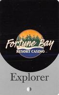 Fortune Bay Casino - Tower, MN - Explorer Level Slot Card  (BLANK) - Casino Cards