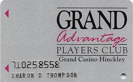 Grand Casino Hinckley MN - Slot Card With No Mfg Mark On Reverse - 10 Lines Of Tex - Casino Cards
