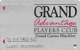 Grand Casino Hinckley MN - Slot Card With Cpi 30093 On Reverse - Casino Cards