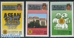 Brunei 1992 ASEAN 3v, (Mint NH), Stamps - Brunei (1984-...)