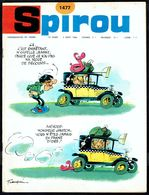 "SPIROU N° 1477 -  Année 1966 - Couverture ""GASTON LAGAFFE"" De FRANQUIN. - Spirou Magazine"