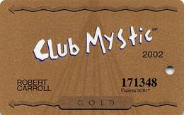 Mystic Lake Casino - Prior Lake MN - 2002 Slot Card - Casino Cards