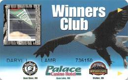 Palace Casino Hotel - Cass Lake MN - Slot Card - Casino Cards