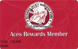 Running Aces Harness Park Columbus MN - Aces Rewards Member Card - 5 Lines Text - Casino Cards
