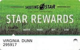 Shooting Star Casino - Mahnomen, MN - Slot Card - Casino Cards