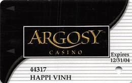 Argosy Casino Riverside, MO - Slot Card - Reverse Text UNDER Signature Strip - Casino Cards