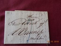Lettre De 1824 En Provenance De Lyon, A Destination De Vannes (56) - Marcophilie (Lettres)