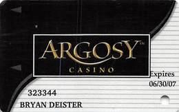 Argosy Casino Riverside, MO - Slot Card - Reverse Text OVER Signature Strip - Casino Cards