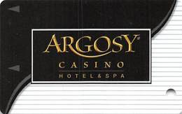 Argosy Casino Hotel & Spa Riverside, MO - Slot Card - Large Reverse Text - Casino Cards