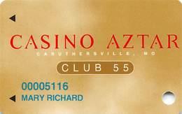 Casino Aztar - Caruthersville, MO - Slot Card - Casino Cards