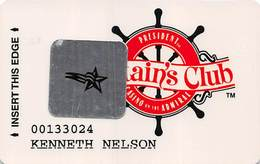 President Casino St. Louis MO Captain's Club Slot Card With Star Sticker - Casino Cards