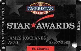 Ameristar Casino St. Charles, MO - Slot Card - Copyright 2004 - Casino Cards
