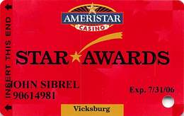 Ameristar Casino Vicksburg, MS - Slot Card - Copyright 2005 - Casino Cards
